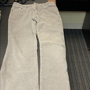 Liz Claiborne petite gray corduroy pants size 4P